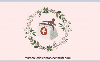 Christmas first aid kit in a wreath