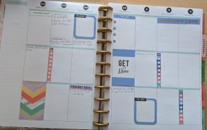 Inside layout example of a big happy planner