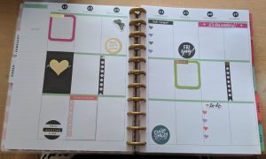 Example of a big happy planner layout
