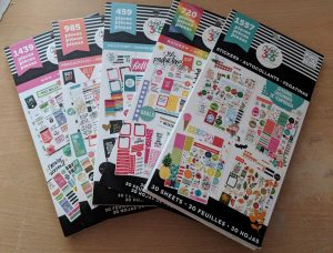 Five happy planner sticker pads
