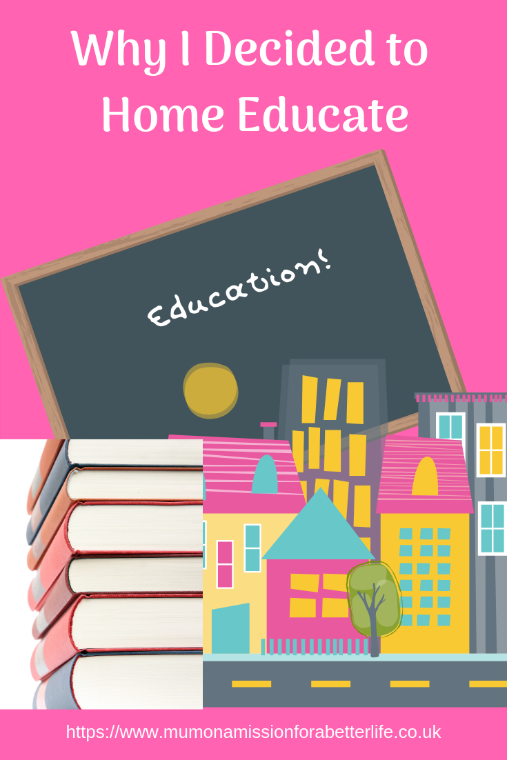 Home education. Books, board with chalk and houses