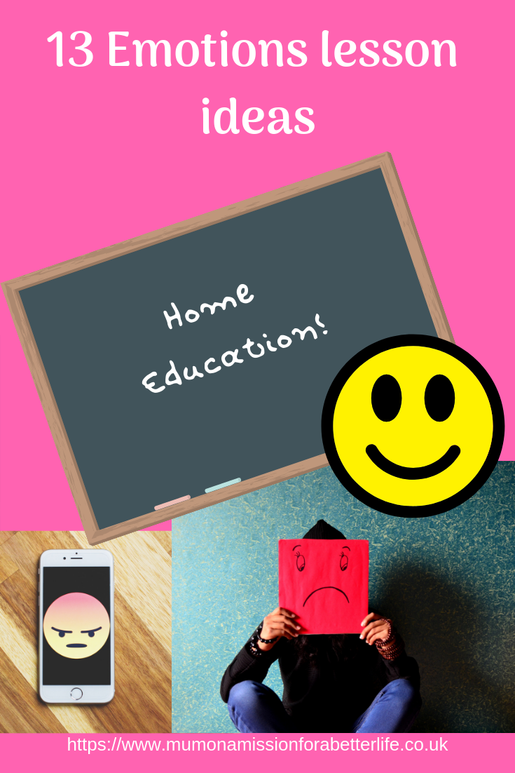 Emotions, lesson ideas, home education