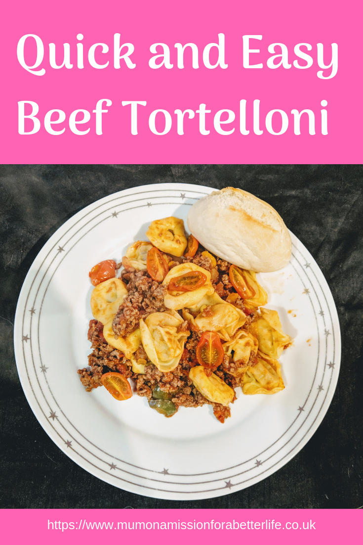 Beef tortelloni easy recipe