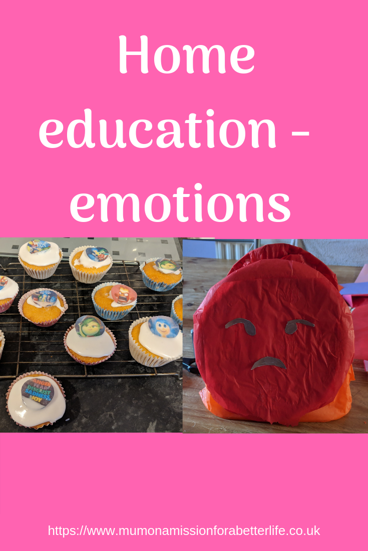 home education, emotions, inside out cakes, anger box