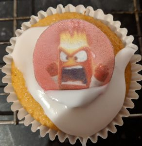 Anger from Inside Out movie cupcake