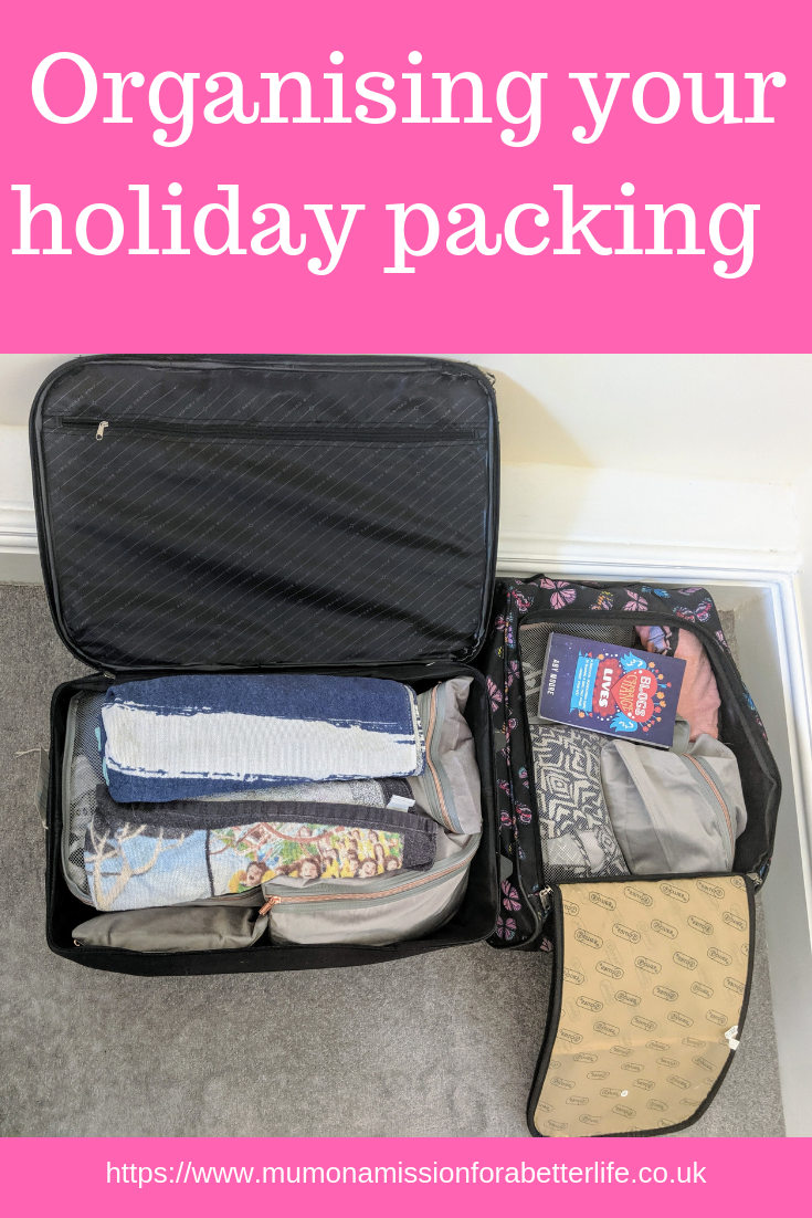 Holiday packing in two suitcases