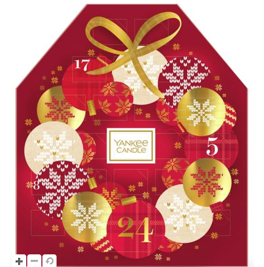 Yankee candle advent in red bubble box