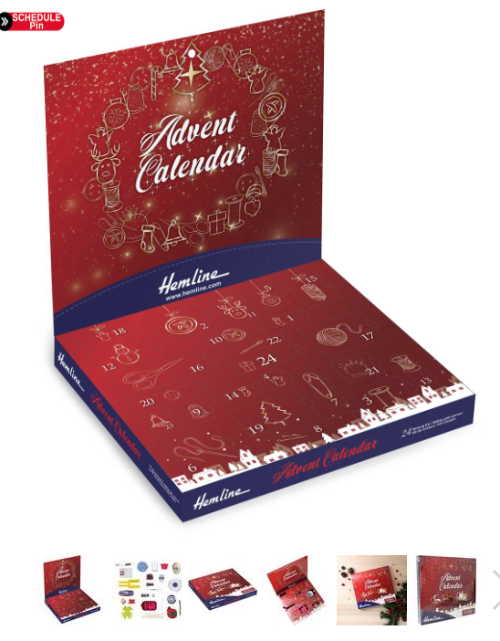 Sewing craft advent calendar