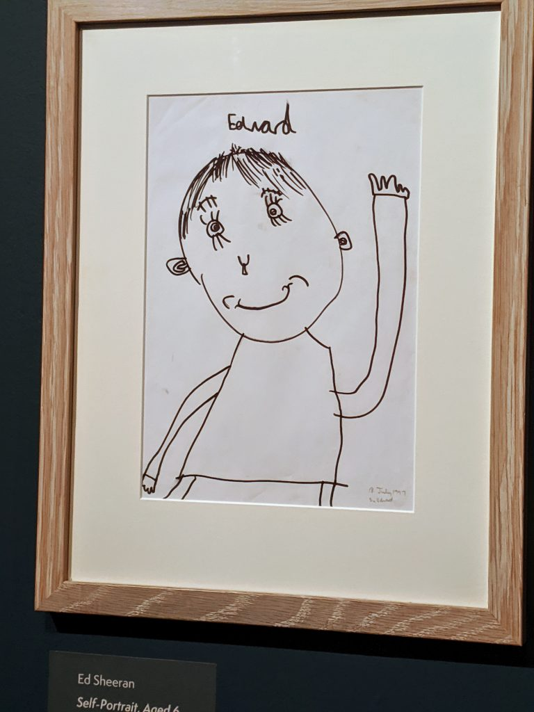 A self portrait by Ed Sheeran aged 6