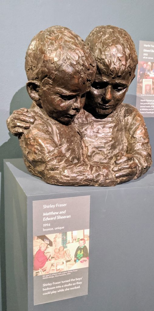 Bronze statue of Ed and Matthew Sheeran