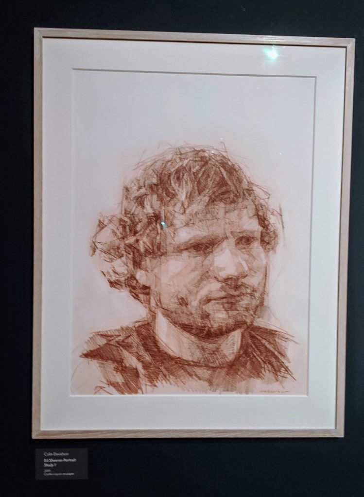 Drawing of Ed Sheeran
