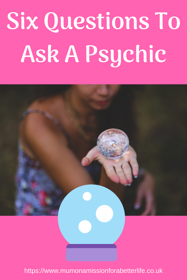 Psychic holding a crystal ball