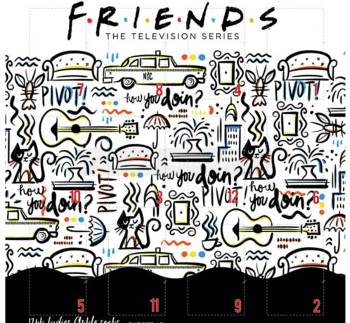 Friends socks advent calendar