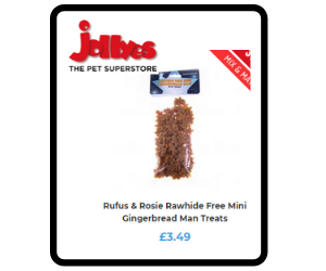 Mini rawhide free gingerbread biscuits for dogs