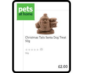 Chocolate santa for dogs