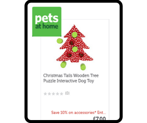 Interactive Christmas tree themed dog toy