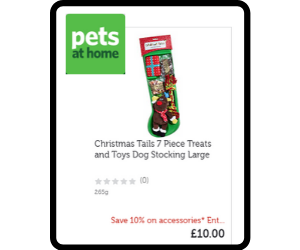 Dog stocking of toys and treats