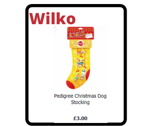 Pedigree dogs christmas stocking