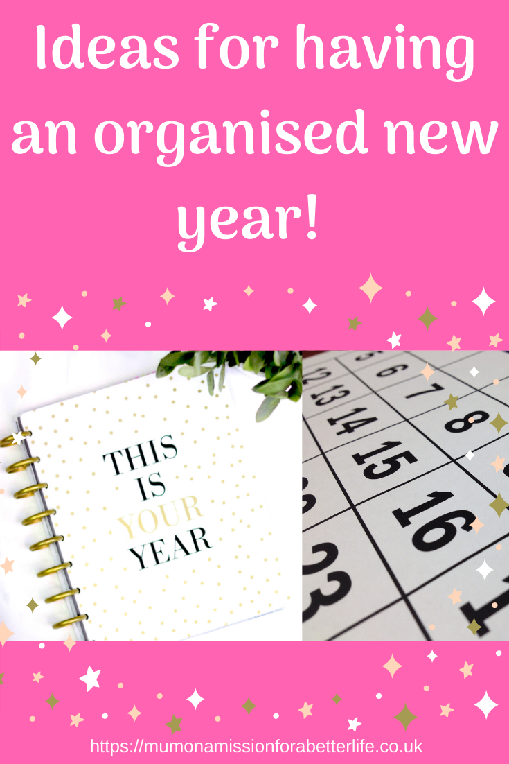 Calendar and planner for an organised new year