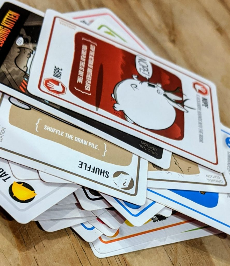Pile of cards from the game
