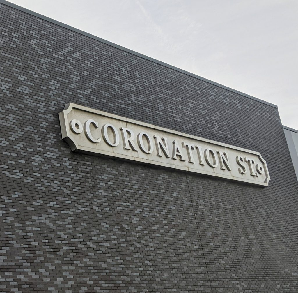 The Coronation street sign on the studio tour