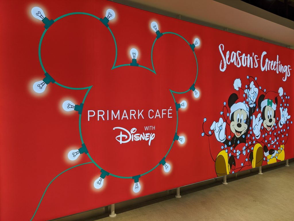 A seasonal sign for the Disney cafe