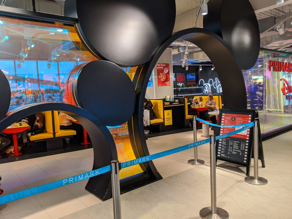 The entrance to the Disney cafe in Primark