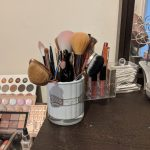 Ted Baker brush holder filled with makeup brushes