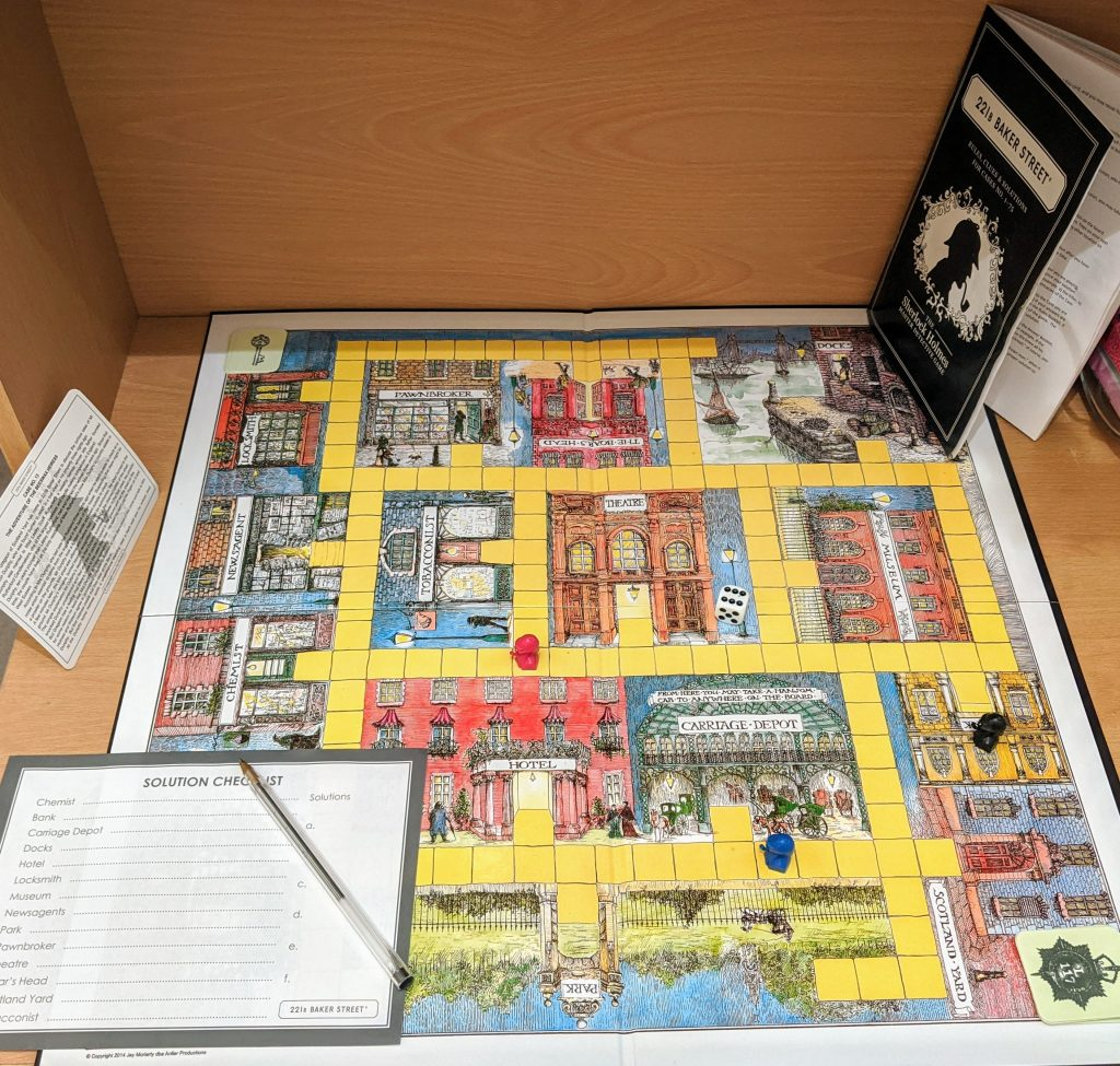 Baker street Game board and accessories