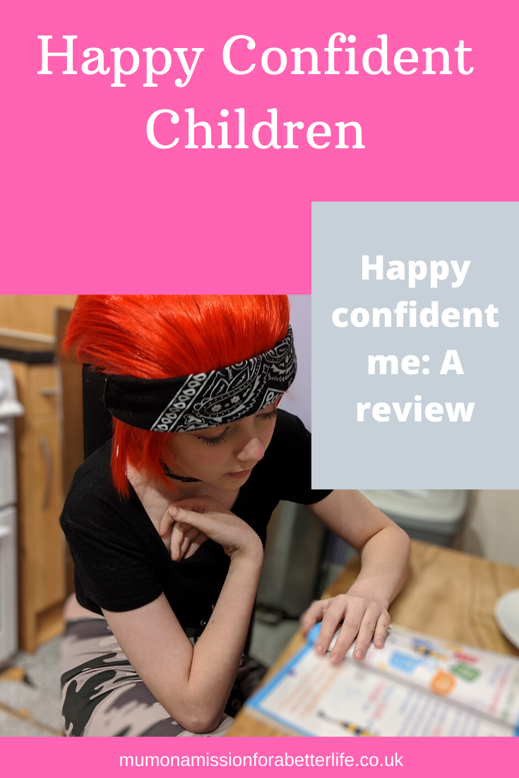 Child completing the happy confident me journal