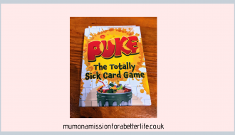 Puke card game box