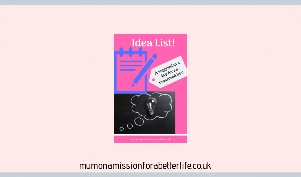 The Idea List logo - a notepad and a lightbulb in a thought bubble