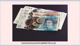 UK money, cash, coins, notes, finances