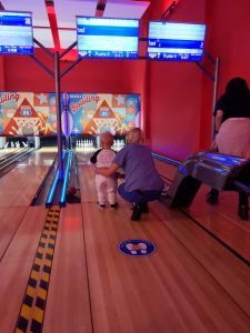 Little mans first time bowling
