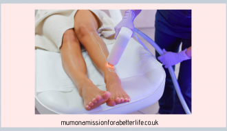 Close up of a ladies legs while having laser hair removal treatment