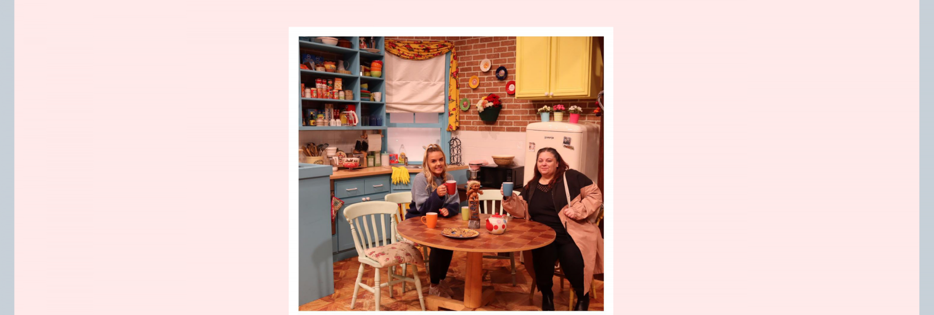 Chloe and myself at Friendsfest in Monica's apartment